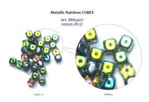 Metallic rainbow cubes prod-02